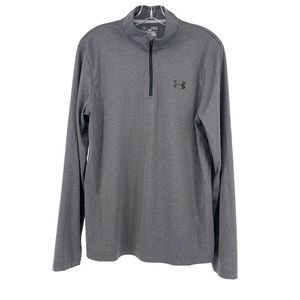 Under Armour Heat Gear Mens M Gray Quarter Zip